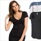 Bella+Canvas - Burnout T-Shirt mit V-Ausschnitt 'Simone'