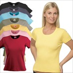 Hanes - Lady Fit T-Shirt 'Spicy-T Boat Neck'