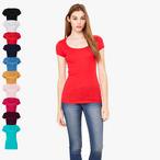 Bella - Margot - leichtes T-Shirt mit tiefem Ausschnitt