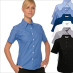 Fruit of the Loom - Lady-Fit Kurzarm Oxford Bluse