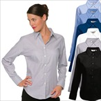 Fruit of the Loom - Lady-Fit Langarm Oxford Bluse