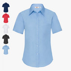 Fruit of the Loom - Lady-Fit Kurzarm Popeline Bluse