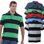 James & Nicholson - Piqué Polo Striped