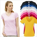 Fruit of the Loom - Lady-Fit Valueweight V-Neck T - Modell 2013