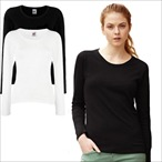 Fruit of the Loom - Lady-Fit Langarm-Shirt 'Valueweight Longsleeve T'