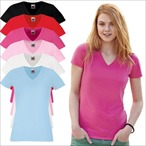 Fruit of the Loom - Lady-Fit T-Shirt 'V-Neck T'
