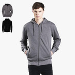 EarthPositive - Mens Organic Fashion Zip-up Hoodie