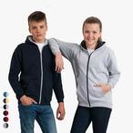 Just Hoods - Kapuzen-Sweatjacke 'Kids Varsity Zoodie'