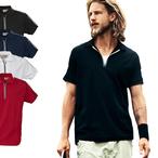 PRINTER - Poloshirt mit Zipper 'RUGBY'