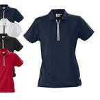 PRINTER - Poloshirt mit Zipper 'HURDLES'