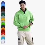 James & Nicholson - Workwear Half-Zip Sweatshirt