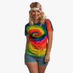Colortone - Damen Batik Shirt 'Sublimate Rainbow'