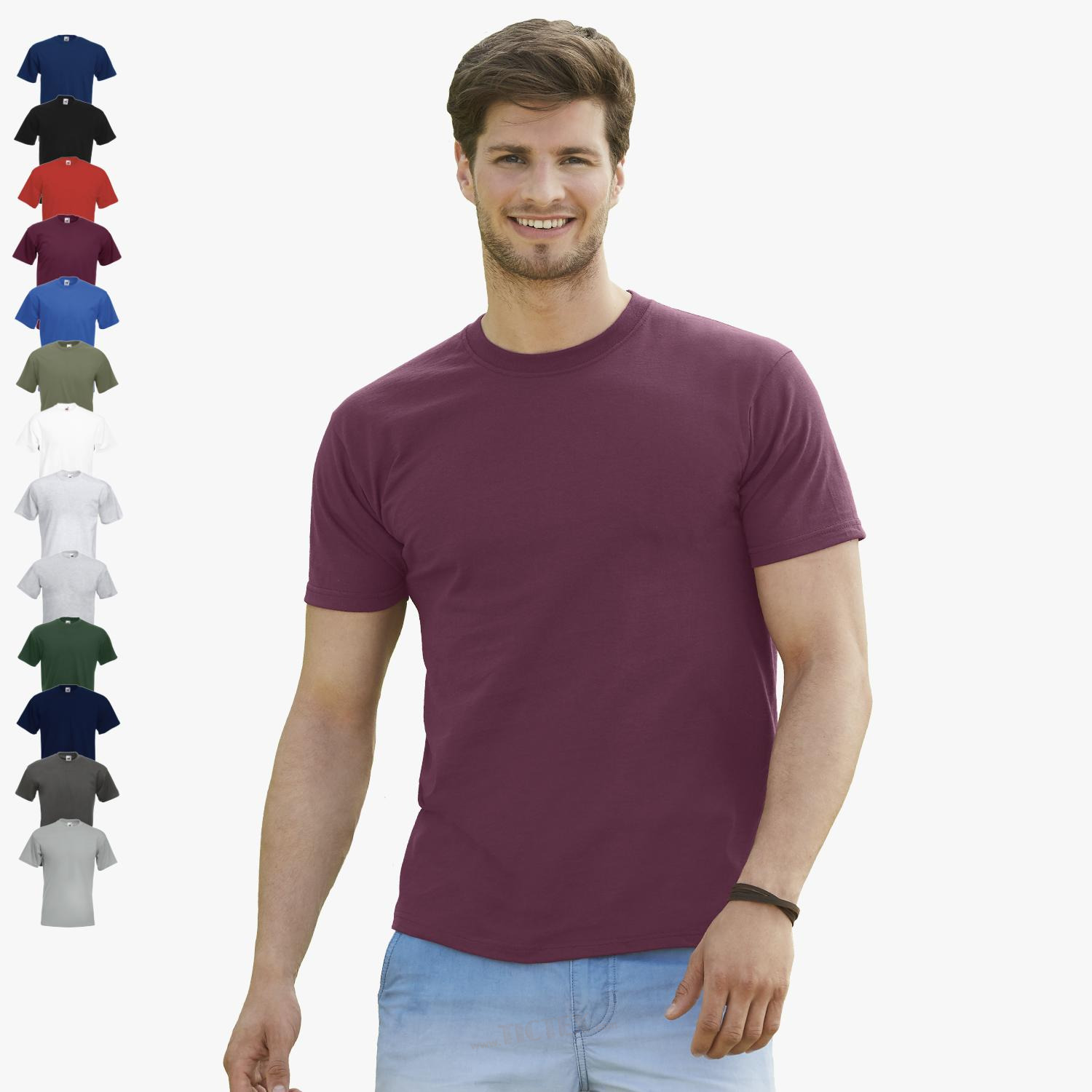 T-Shirt-Fruit-of-the-Loom-Super-Premium-T-S-M-L-XL-XXL