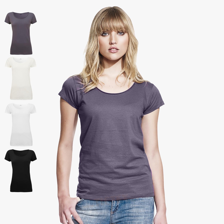 Continental women 39 s raw edge jersey t shirt for Raw edge t shirt women s
