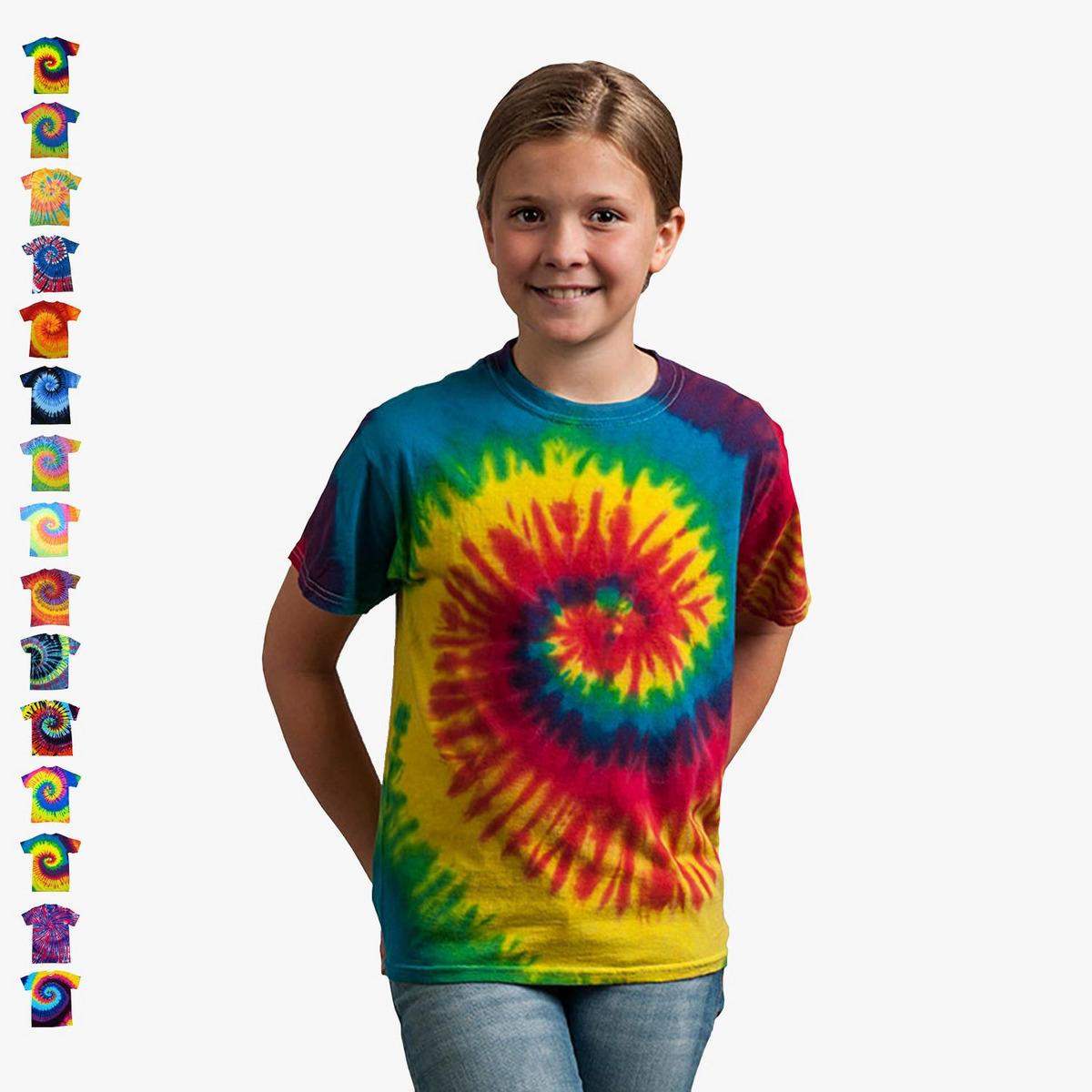 Colortone-bambini Batik T-shirt 'swirl'   Flower-power Hippie-