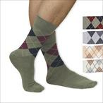 Gomati - 4 Paar Herren-Socken mit Karomuster - Gr. 39-42