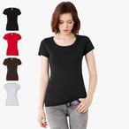 Bella+Canvas - T-Shirt mit U-Boot-Ausschnitt
