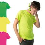 B&C - Polycotton T-Shirt in Neonfarben 'Men-Only PC'