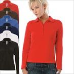 B&C - Ladies Langarm-Poloshirt 'Safran Pure LSL Woman'