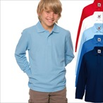 Fruit of the Loom - Kinder Langarm Poloshirt '65/35'