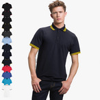 Kustom Kit - Tipped Piqué Retro-Poloshirt