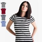 Mantis - Womens Retro Streifen T-Shirt