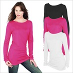 Skinnifit - Ladies Long Line T-Shirt 'Slinky T'