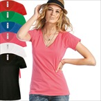 B&C - V-Neck T-Shirt 'Blondie Classic /women'