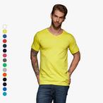 James & Nicholson - Slim Fit T-Shirt mit V-Ausschnitt
