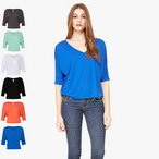 Bella+Canvas - Flowy Boxy V-Neck T-Shirt