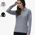 Skinnifit -  Ladies Langarm Stretch - Poloshirt