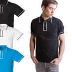 Skinnifitmen - Men's Contrast Piped Poloshirt