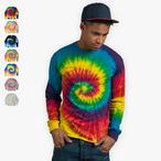 Colortone - Unisex Batik Langarmshirt 'Swirl'