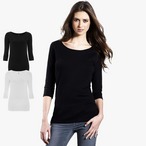 EarthPositive - Women's Organic 3/4 Sleeve Stretch T-Shirt