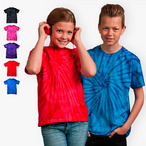 Colortone - Kinder Batik T-Shirt 'Spider''