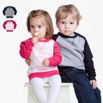 Larkwood - Baby Kontrast Raglan Sweatshirt