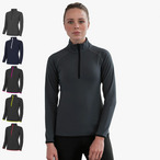 Just Cool - 1/2 Zip Damen Funktions-Sweatshirt