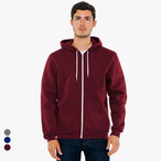 American Apparel - Unisex Salt and Pepper Zip Hoodie