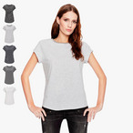 EarthPositive - Damen  Rolled Sleeve T  gestreift