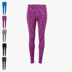 TriDri - Damen Performance Leggings 'Space Dye'