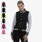 Just Hoods - Girlie College Jacke 'Varsity Jacket'