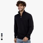 Ecologie - Unisex 1/4 Zip Strick Sweater 'Wakhan'