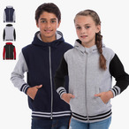 Just Hoods - Kinder College Sweatjacke mit Kapuze