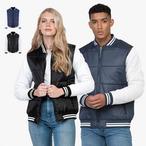 Just Hoods - Unisex Varsity Puffer Jacket