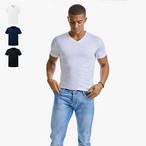Russell - Men's Pure Organic V-Neck Tee