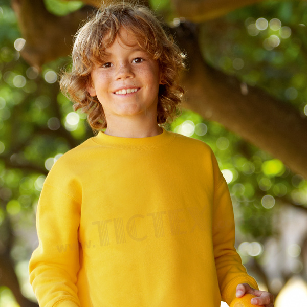 Fruit of the Loom Kinder Sweatshirt Kids Set-in Sweat 140,Black