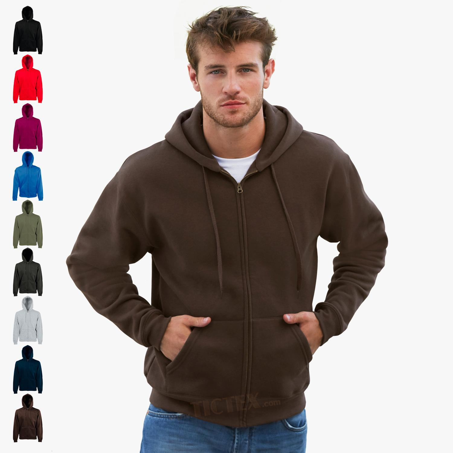 Fruit of the Loom - Premium Kapuzen-Sweatjacke 'Hooded