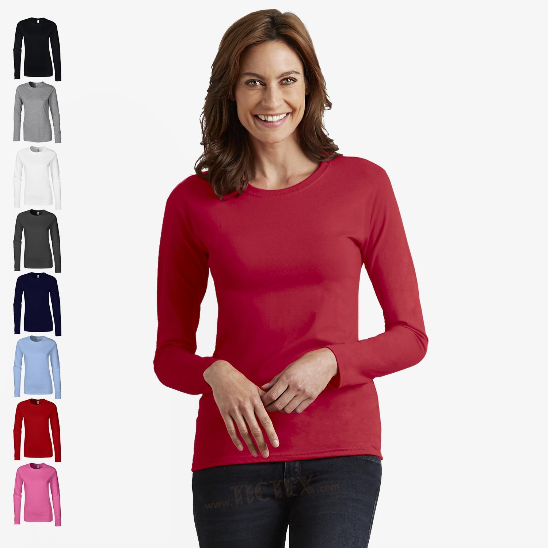 64400L Gildan Softstyle® Ladies/' Long Sleeve T-Shirt Langarm-Shirt Damen