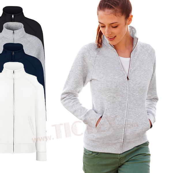 Fruit of the Loom Premium Lady Fit Kapuzenjacke