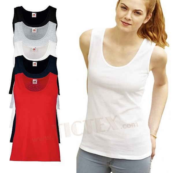 b97a91059281c9 Fruit of the Loom - Lady-Fit Tanktop  Valueweight Vest